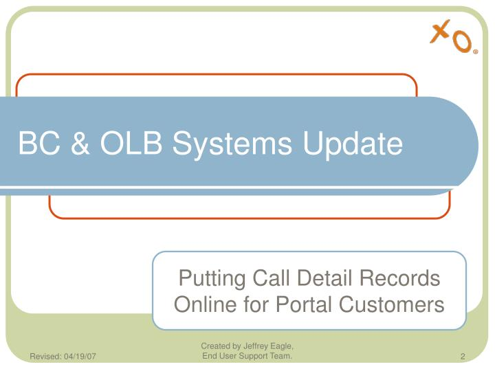 Bc olb systems update