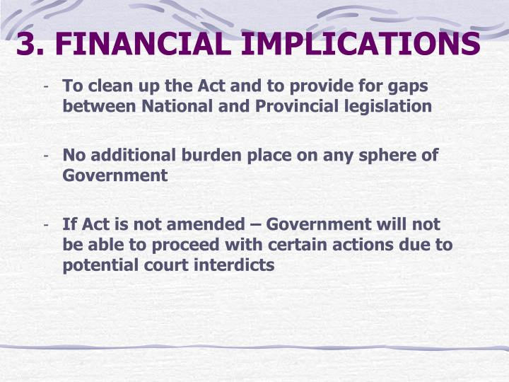 3. FINANCIAL IMPLICATIONS