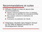 recommandations et suites1