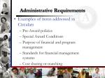 administrative requirements1