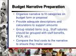 budget narrative preparation1