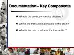 documentation key components