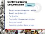 identifying source documentation