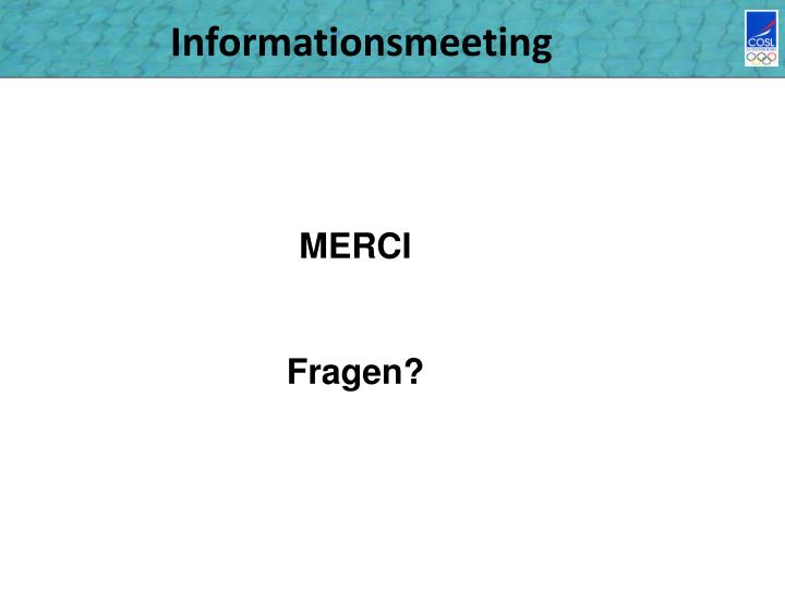 Informationsmeeting