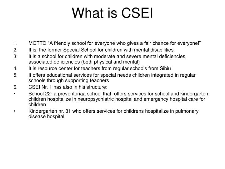 What is CSEI