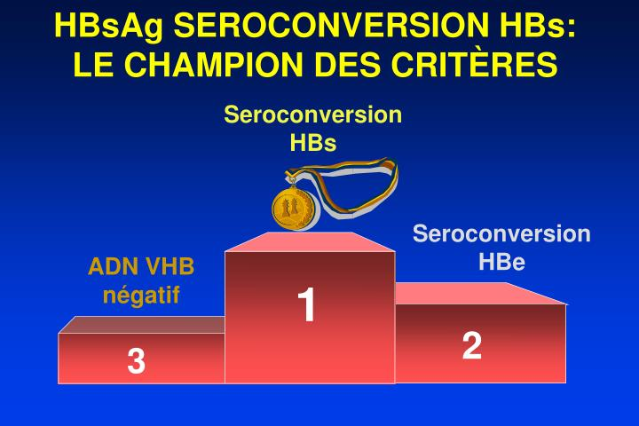 HBsAg SEROCONVERSION HBs: