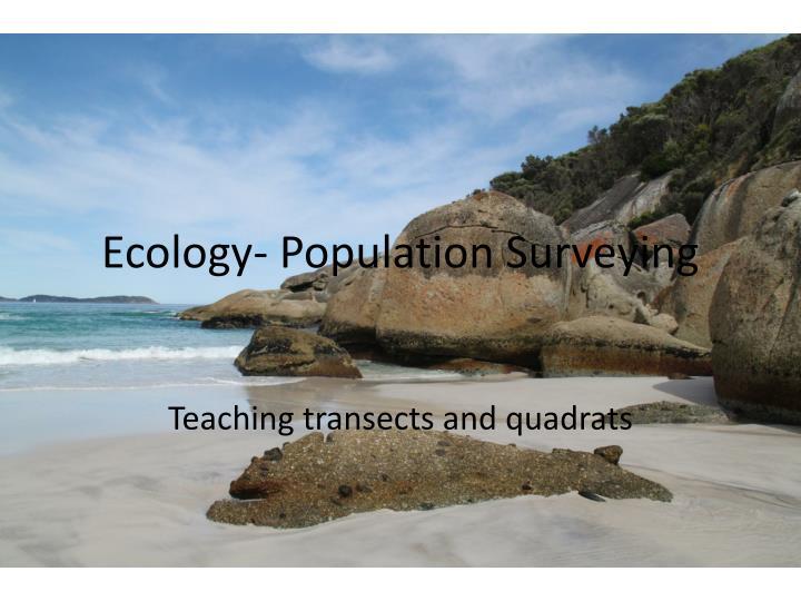 ecology population surveying n.