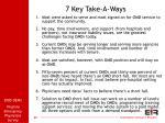 7 key take a ways