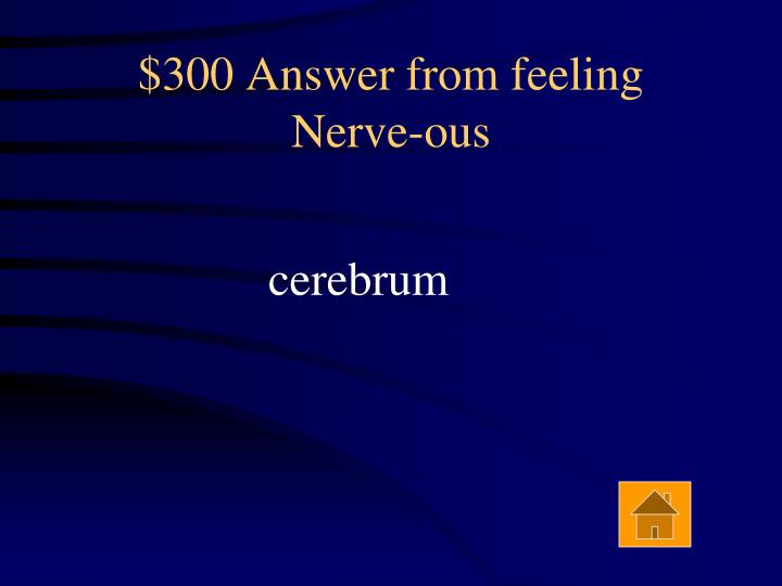 $300 Answer from feeling