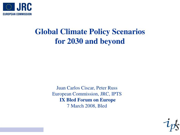 global climate policy scenarios for 2030 and beyond n.