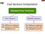 cost variance computation