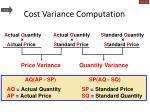 cost variance computation2