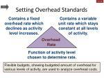setting overhead standards