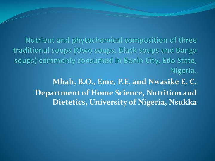 Nutrient and