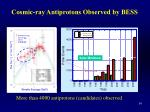 cosmic ray antiprotons observed by bess