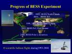 progress of bess experiment