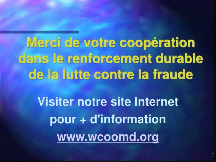Visiter notre site Internet