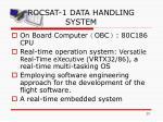 rocsat 1 data handling system
