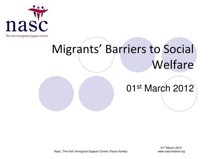 Migrants barriers to social welfare