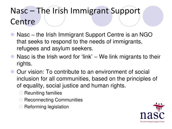 Nasc the irish immigrant support centre