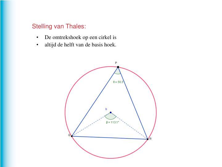 Stelling van Thales: