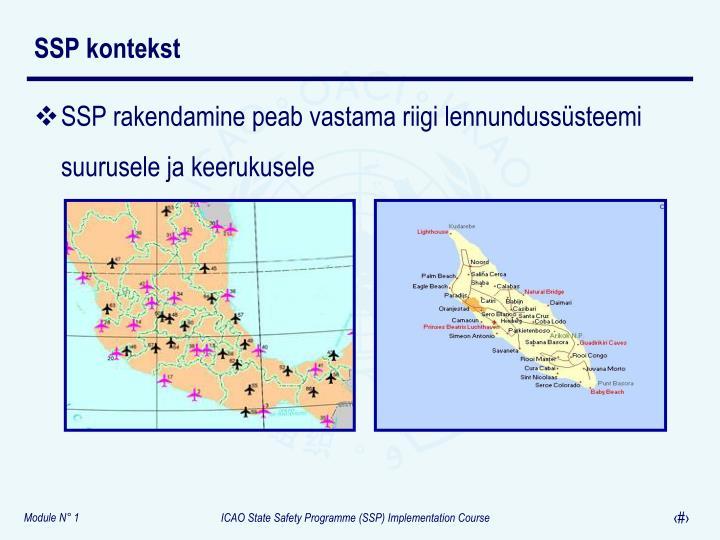 SSP rakendamine peab vastama riigi lennundussüsteemi suurusele ja keerukusele