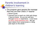 parents involvement in children s learning1