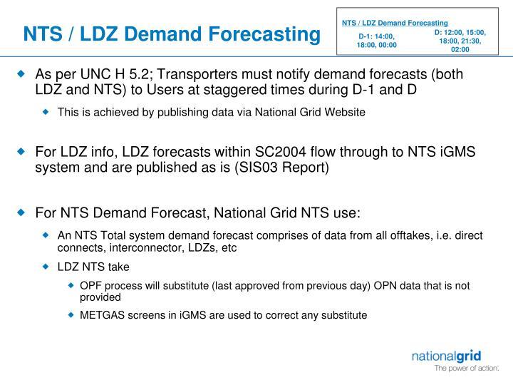 NTS / LDZ Demand Forecasting
