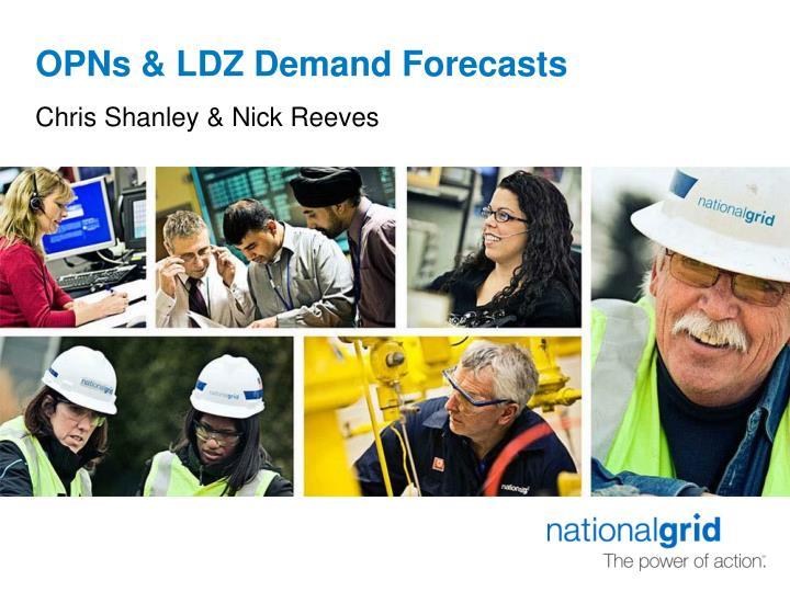 Opns ldz demand forecasts