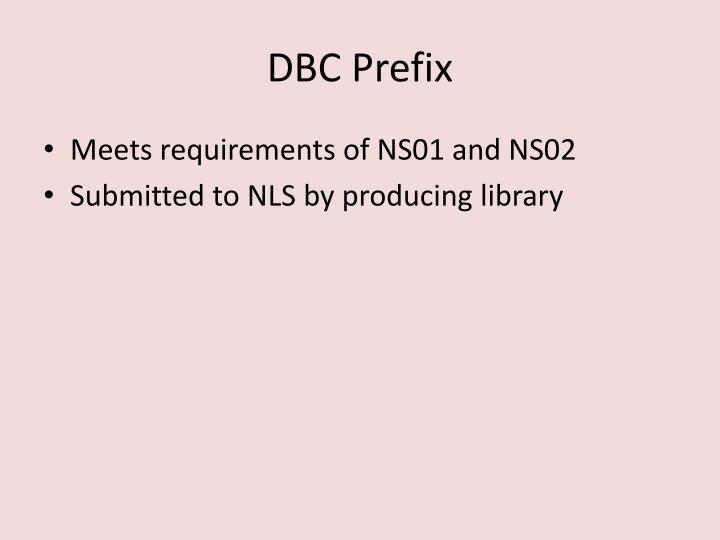 DBC Prefix
