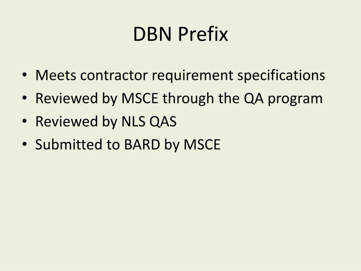 DBN Prefix