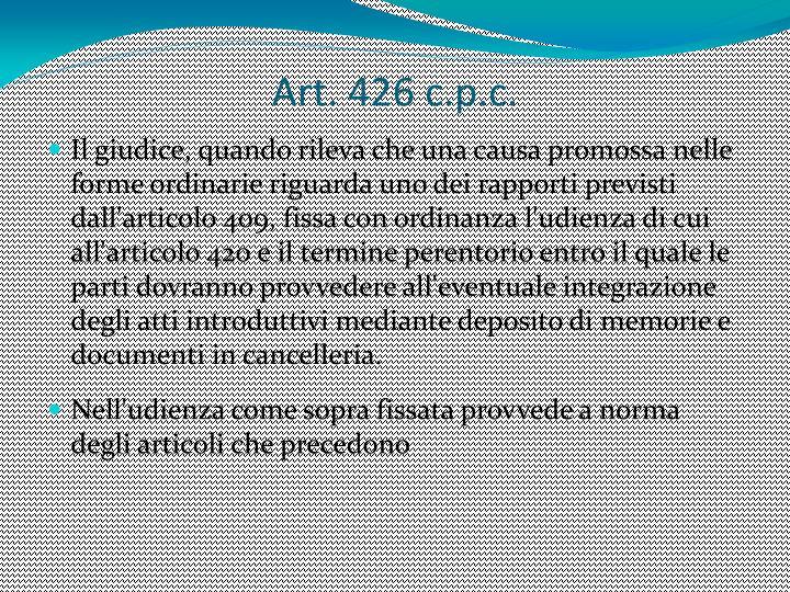 Art. 426 c.p.c.
