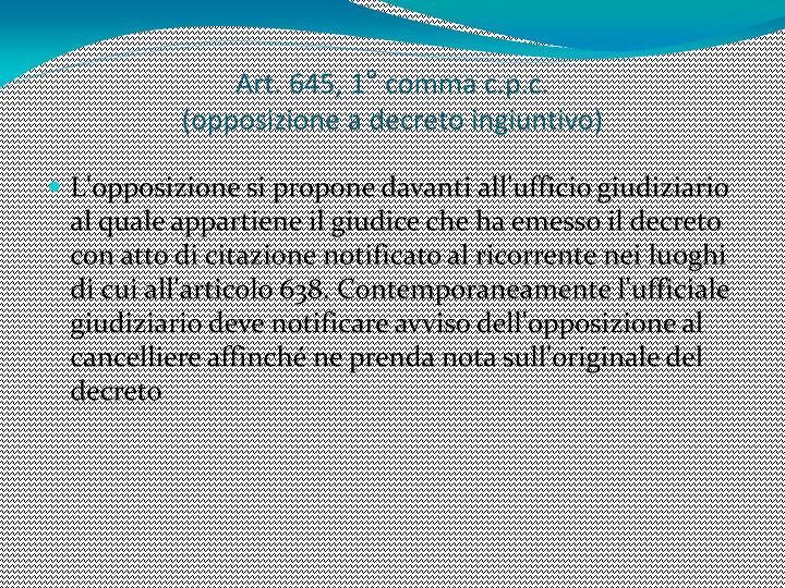 Art. 645, 1° comma c.p.c.