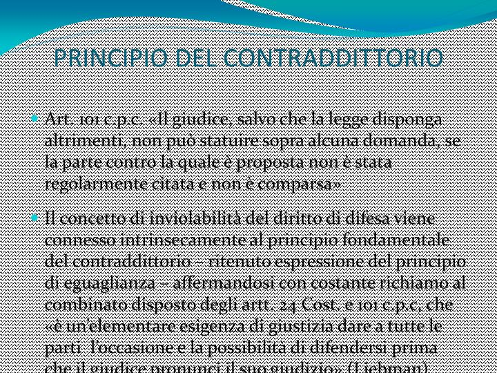 PRINCIPIO DEL CONTRADDITTORIO