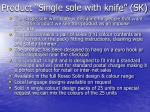 product single sole with knife sk