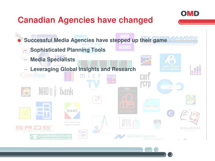 Canadian Agencies have changed