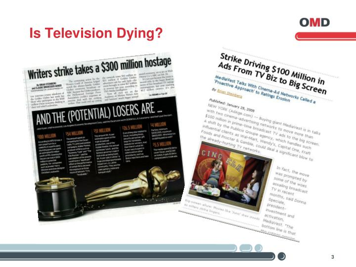 Is television dying
