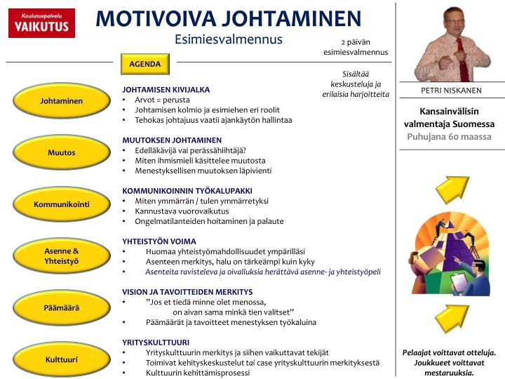 MOTIVOIVA JOHTAMINEN