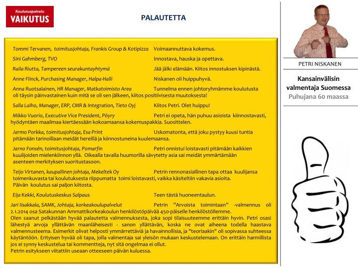 PALAUTETTA