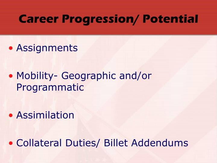 Career Progression/ Potential