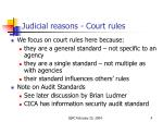 judicial reasons court rules