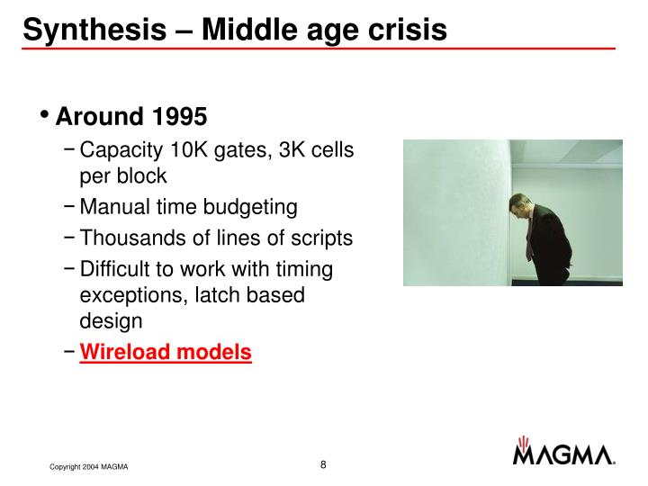 Synthesis – Middle age crisis