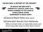 the big idea a history of the concept