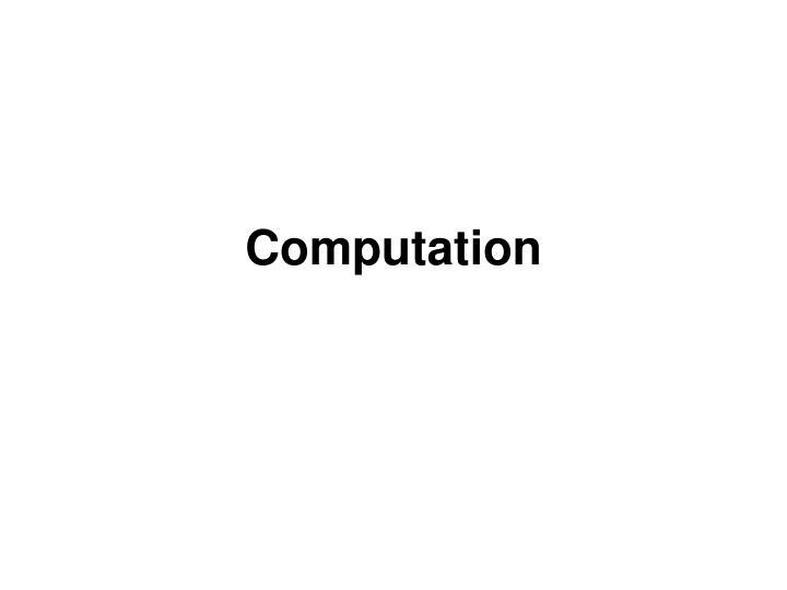 computation n.