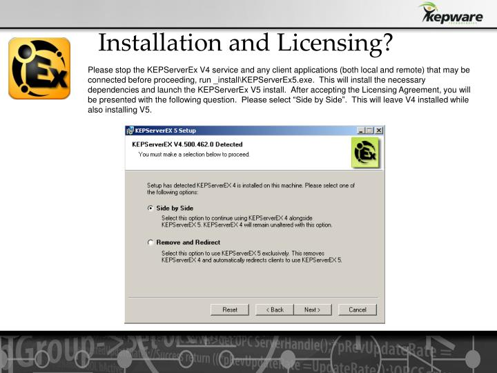 Installation and Licensing?