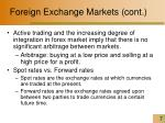foreign exchange markets cont