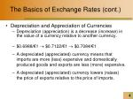 the basics of exchange rates cont