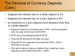 the demand of currency deposits cont1