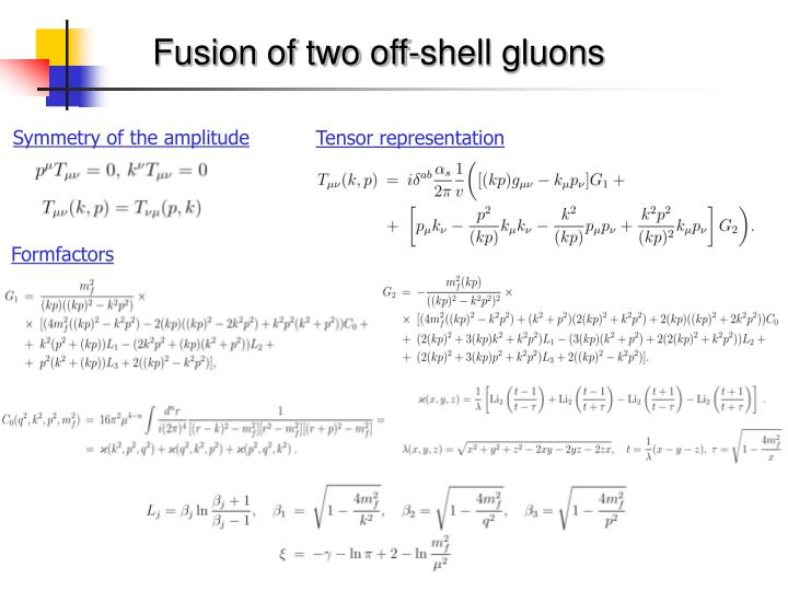 Fusion of two off-shell gluons