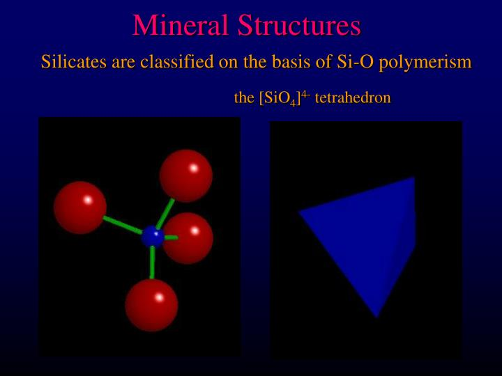 mineral structures n.